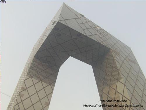 El edificio de CCTV en Beijing. CCTV es la central estatal de televisión