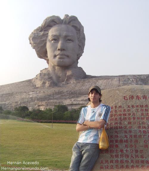 En Changsha las estatuas de Mao pululan